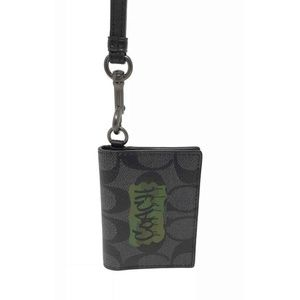 Coach Men's Signature Lanyard Graffiti ID Holder